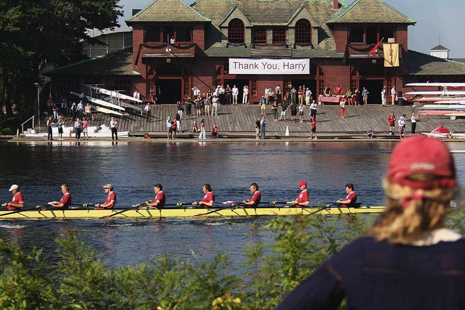 A flotilla with stars from past squads provided an ideal tribute to Harvard coach Harry Parker, who died in June.