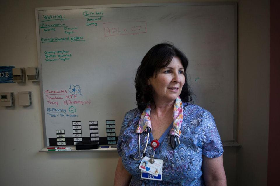 Lisa Conn, a nurse at St. Andrew's Hospital for more than 19 years, praised efforts to save the 105-year-old facility.