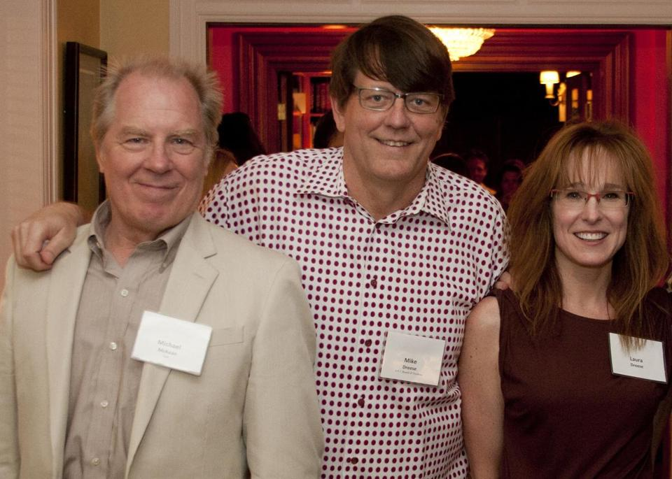 Michael McKean (left) with Mike and Laura Dreese.