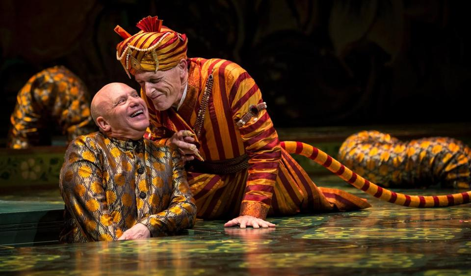 "Thomas Derrah as Kaa and Larry Yando as Shere Khan in a new adaptation of ""The Jungle Book."""