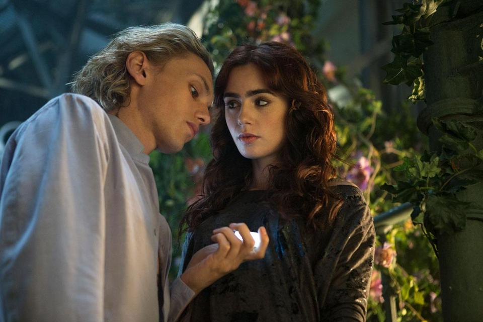 "Jamie Campbell Bower and Lily Collins in ""The Mortal Instruments: City of Bones,"" based on Cassandra Clare's young adult novel."