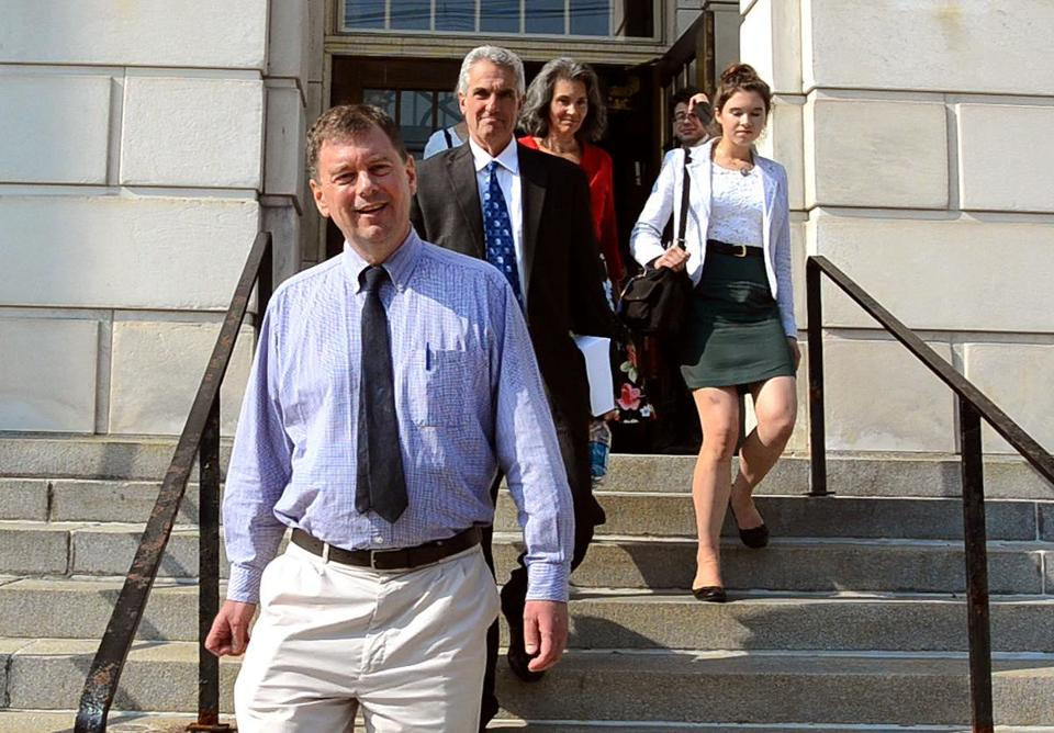 Malcom Parker, his family, and an attorney left US District Court in Vermont Wednesday.