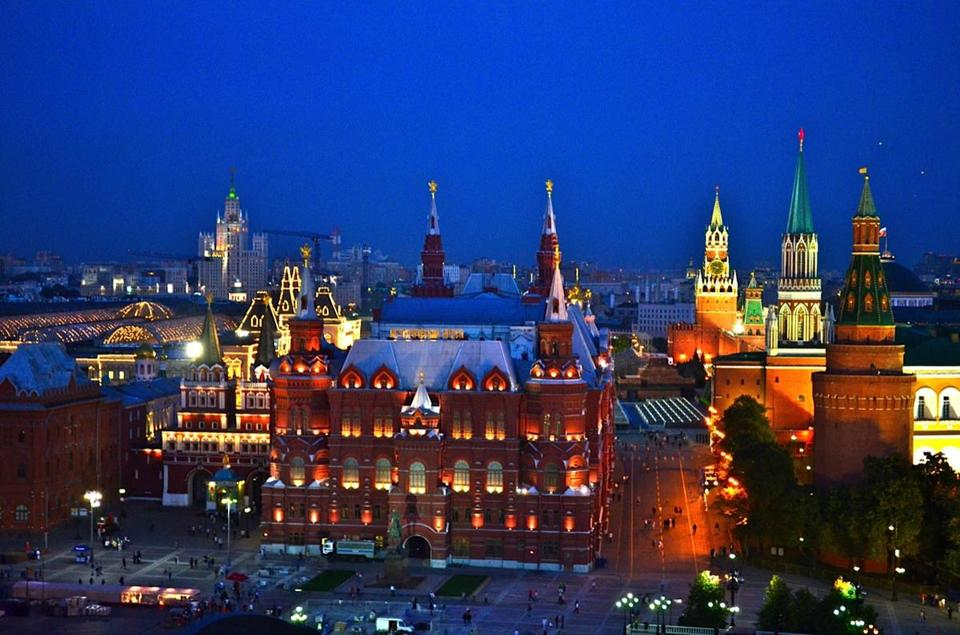 The State Historical Museum on Moscow's Red Square.