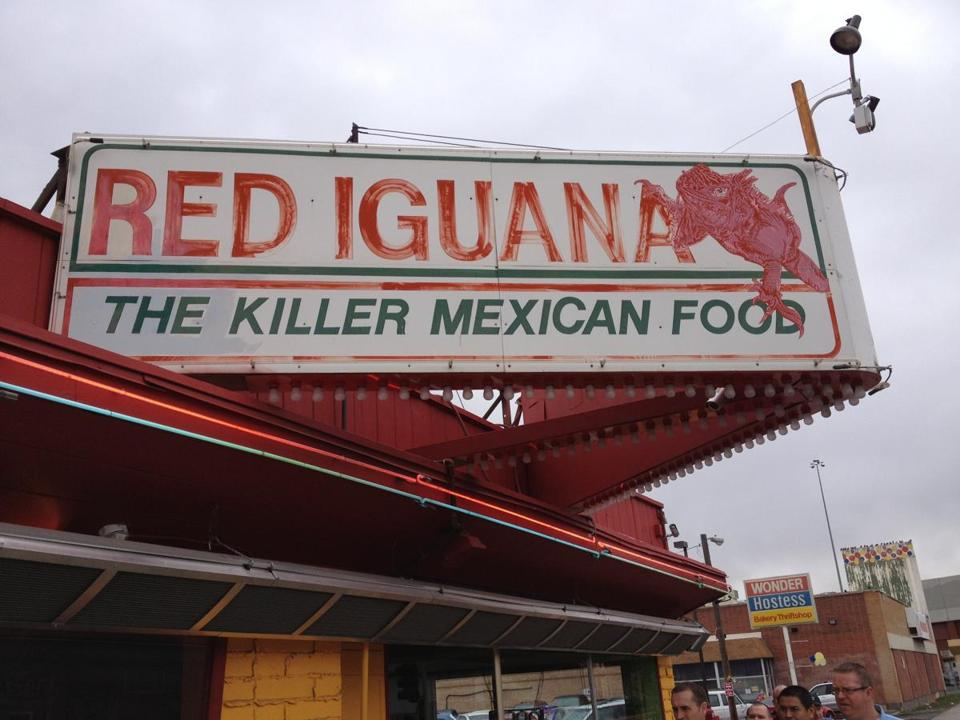 Red Iguana always has a line out the door at its original locale in Salt Lake City. The Mexican menu includes a popular mole sauce, here on chunks of turkey.