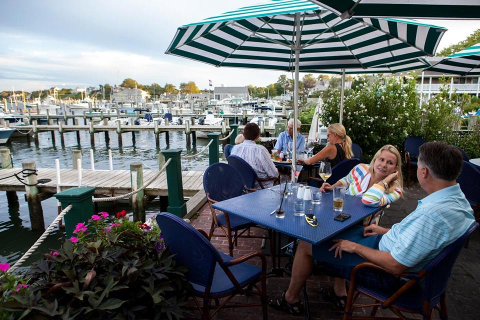 Guests enjoyed the view — and drinks — at the Atlantic Fish and Chophouse.