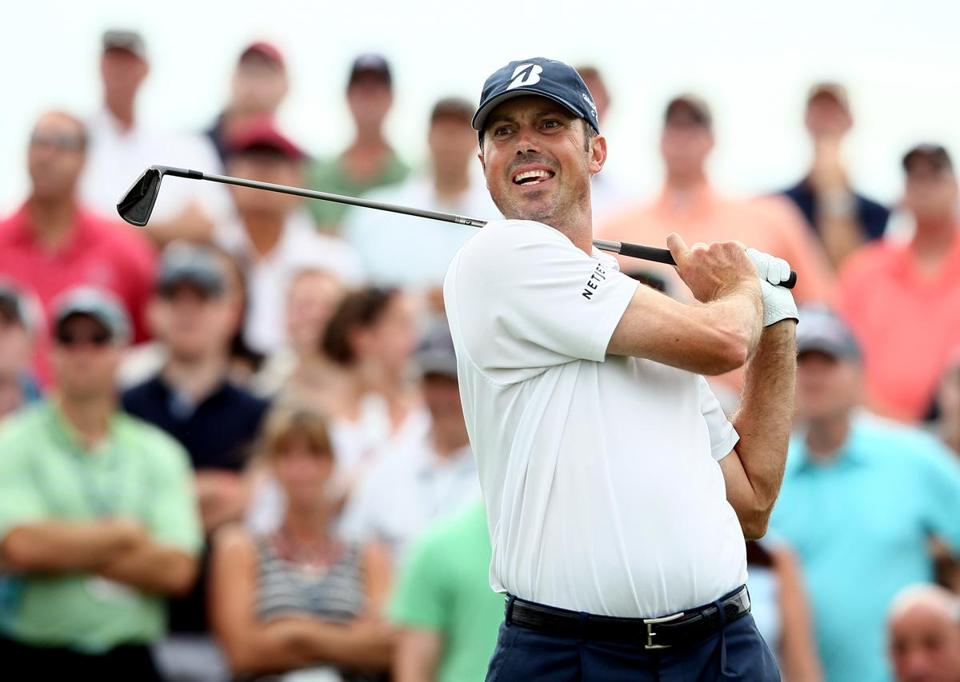 Matt Kuchar is atop the leaderboard at 10 under despite night falling before he could finish his second round.