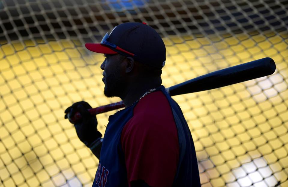 David Ortiz, taking batting practice before Friday night's game, was still answering questions over his recent comments.