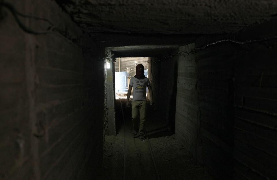 A Palestinian used a tunnel beneath the Gaza-Egypt border. Hamas smuggled in items Israel won't permit.