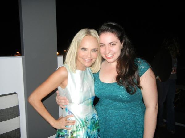 Kristin Chenoweth (left) and Kellie McKay in LA.