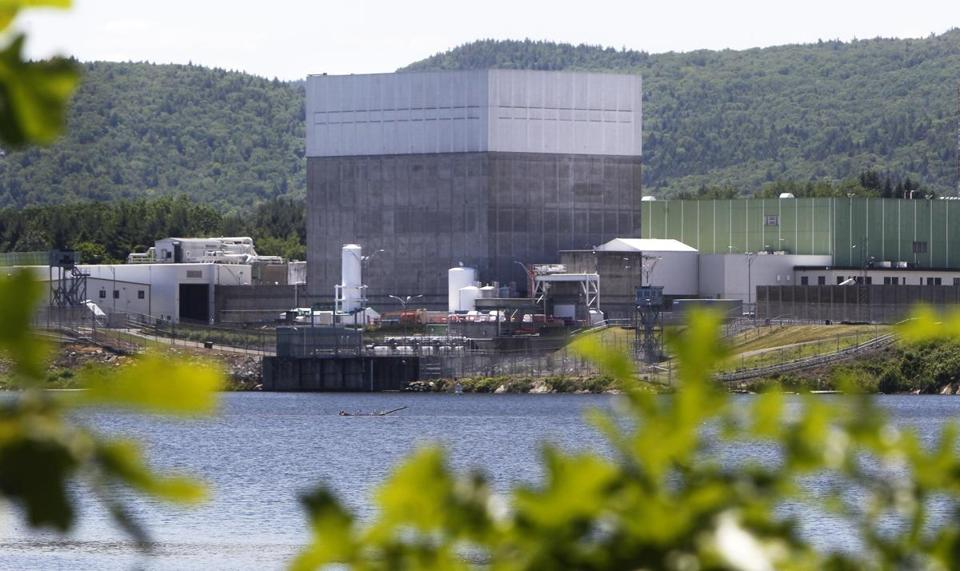 The Vermont Yankee Nuclear Power Station sits along the banks of the Connecticut River in Vernon, Vt.