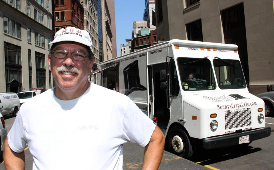 Frank Shear of Benny's Crepe Cafe will be among the food truck vendors in Natick.