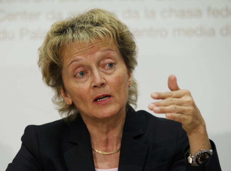 Swiss Finance Minister Eveline Widmer-Schlumpf was tapped to work out the deal.