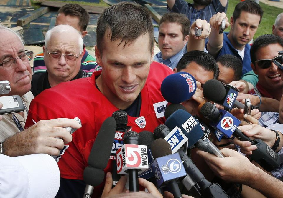 Tom Brady spoke with reporters after practice on Monday.