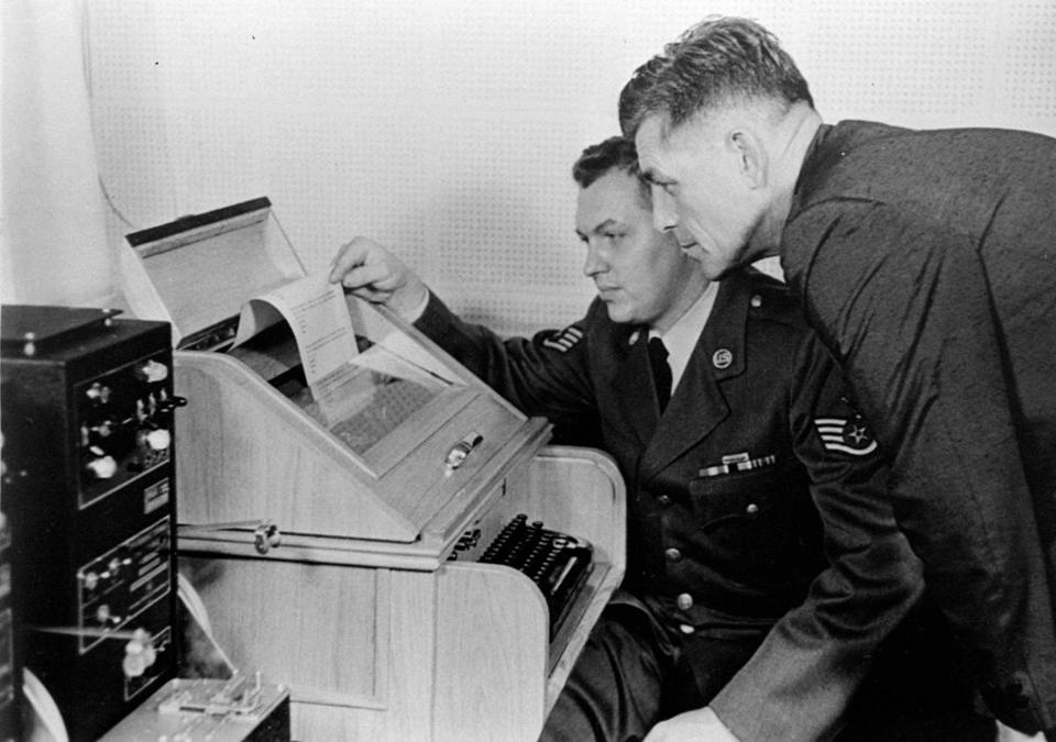 Fifty years ago Thursday, the United States and the Soviet Union opened a hot line, shown in its test run at the Pentagon.