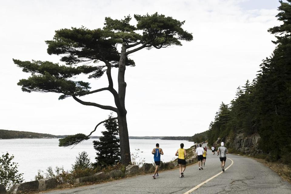 The rolling hills of Maine's Mount Desert Island Marathon, held October 20, make it one of New England's toughest — and most scenic.