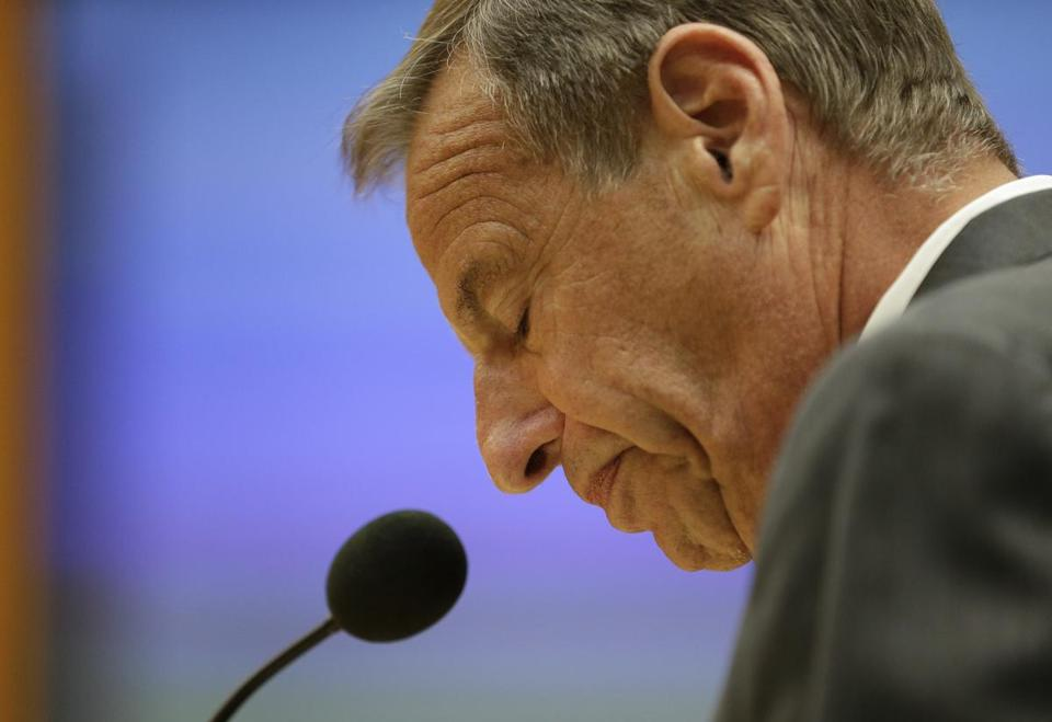 Bob Filner, shown earlier this month at a City Council meeting, where he gave a defiant speech and agreed to resign as mayor of San Diego. Friday was the 70-year-old politician's last official day in office, though few saw him in public.