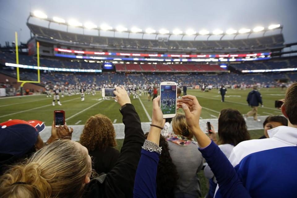 The Patriots installed Wi-Fi at Gillette Stadium in 2012; users could now broadcast video using that connection.