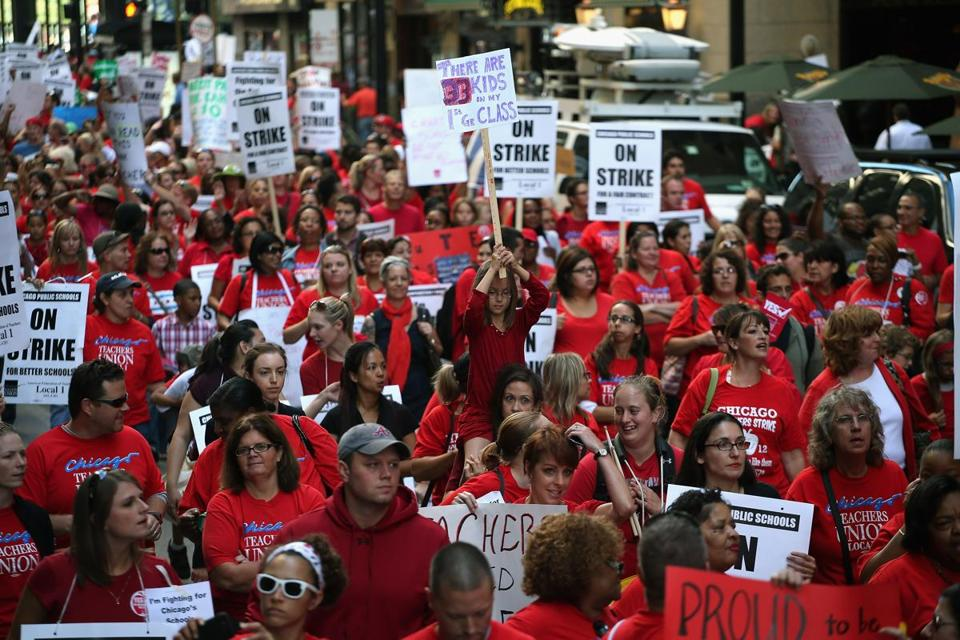 Thousands of public school teachers went on strike last year after the Chicago Teachers Union had failed to reach an agreement with the city.
