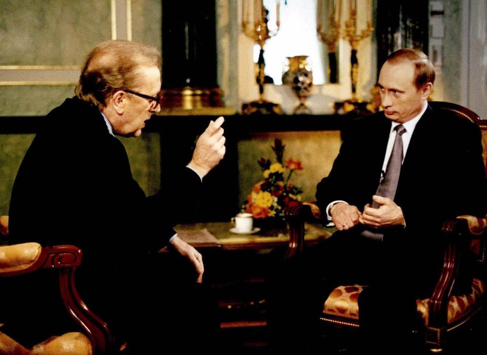 Vladimir Putin (right), then acting Russian president, told David Frost in 2000 that he expected his country to be treated as an equal by NATO, adding that joining the alliance was a possibility.