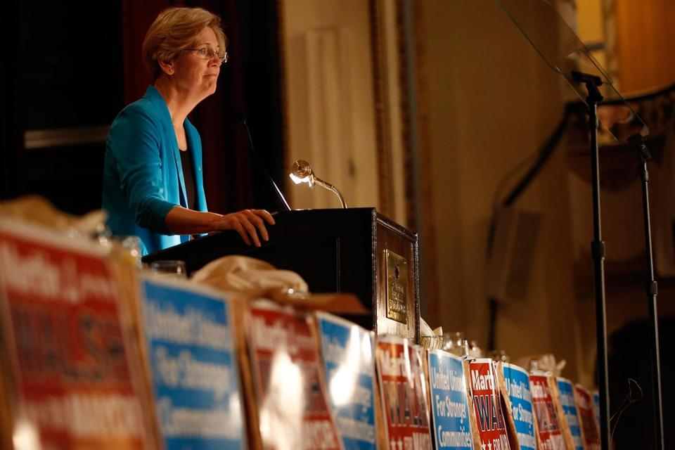 Senator Elizabeth Warren said years of stagnant wages and benefits had taken a toll on the working and middle class.