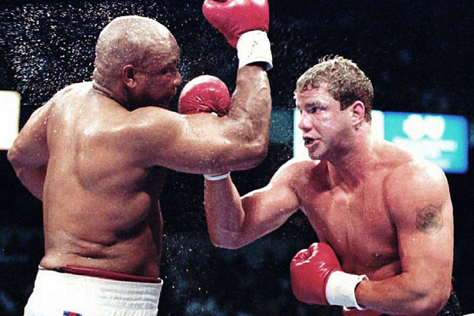 Tommy Morrison became heavyweight boxing champion when he defeated George Foreman in a unanimous decision in Las Vegas. He lost the crown four months later.