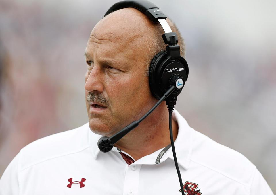 Coach Steve Addazio was pleased with BC's offensive line play against Villanova.