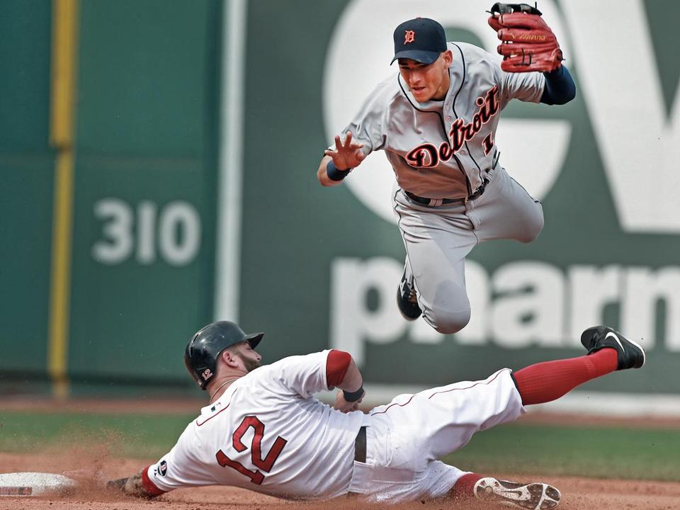 Defensive whiz and former Red Sox shortstop Jose Iglesias helped stifle his ex-teammates, taking part in three double plays.