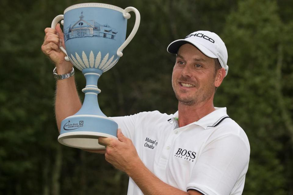 Henrik Stenson came from two down on the final day to finish two ahead, giving him claim to the Deutsche Bank title and the cup that comes with it.