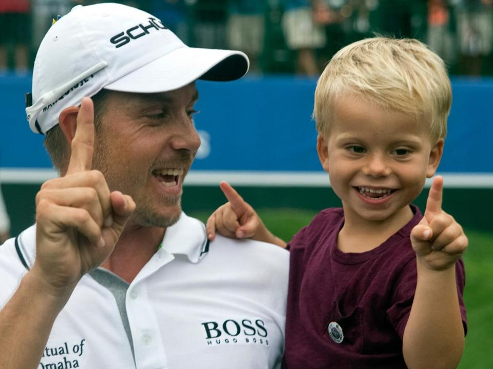 Henrik Stenson and his son, Karl, know who's No. 1 following his triumph at TPC Boston.