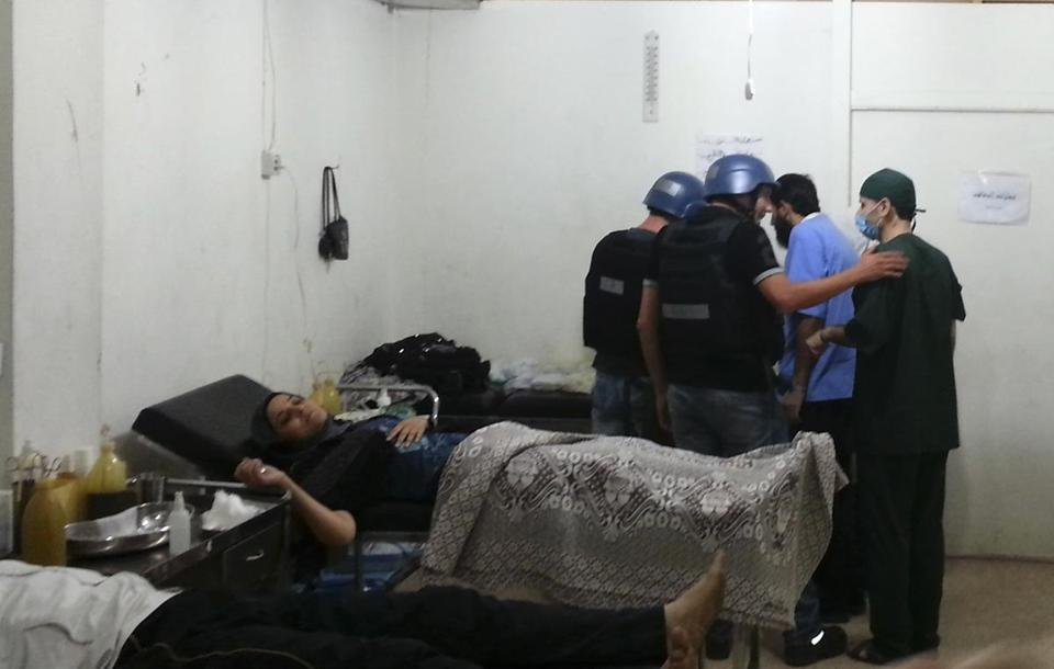 UN chemical weapons experts visited a hospital where wounded people affected by an apparent gas attack were being treated near Damascus on Aug. 26.