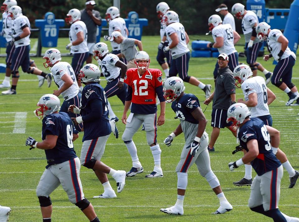 While the cast around him may change, Tom Brady will again be at the center of the Patriots roster in 2013.