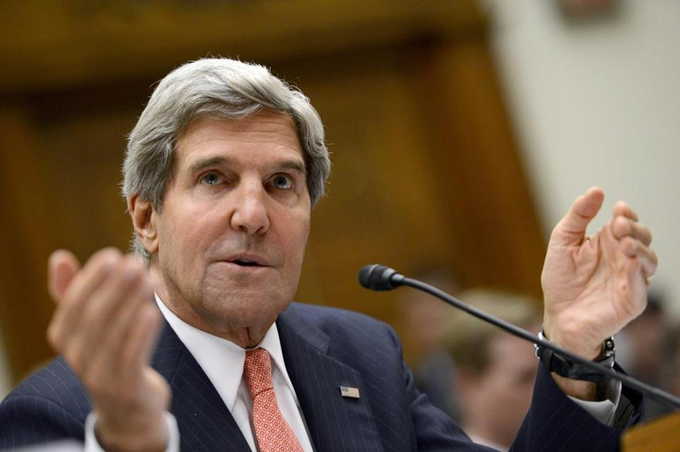 Secretary of State John Kerry testified at a House Foreign Affairs Committee hearing Wednesday.