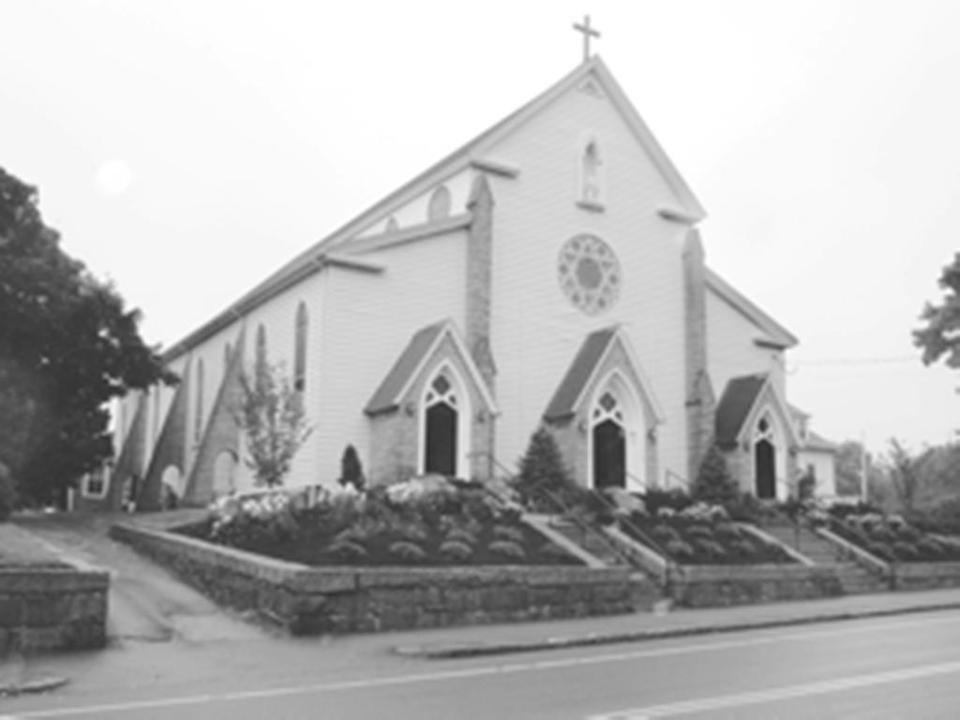 St. Bridget's Church is thought to be the oldest wooden Catholic church south of Boston.