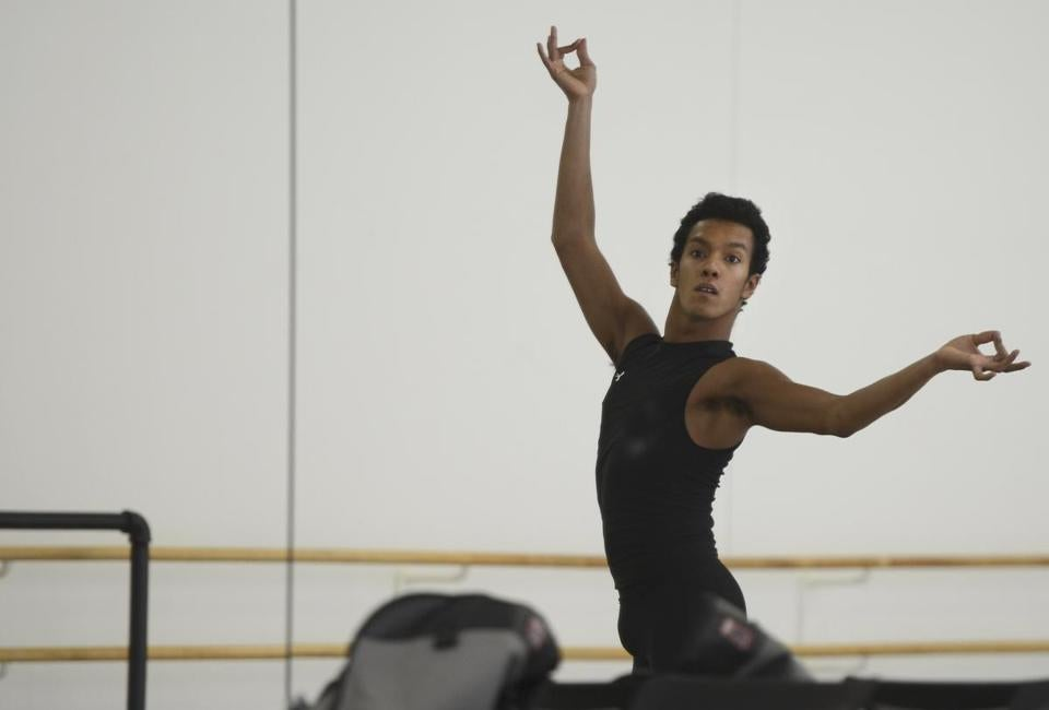 Irlan Silva rehearsed recently with the Boston Ballet.