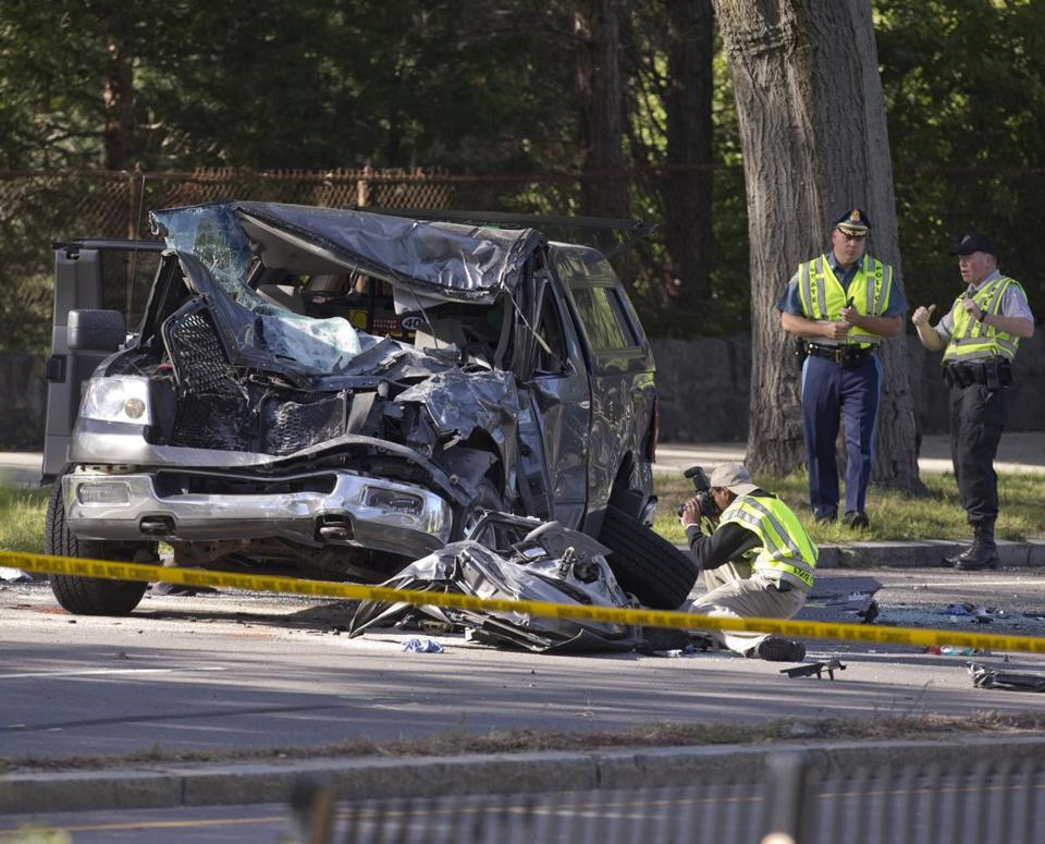 A crash Friday afternoon on the Arborway sent six people to the hospital, two with critical injuries.