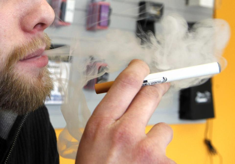 E-cigarettes are battery powered devices that deliver nicotine in an aerosol mist.