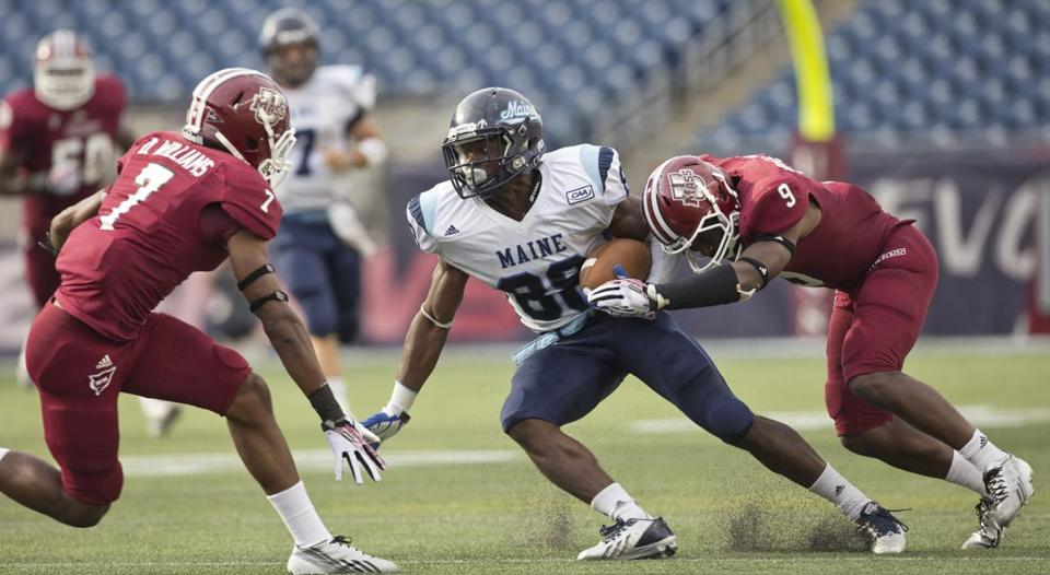 The UMass Minutemen fell to the Maine Black Bears 24-14 Saturday at Gillette Stadium in Foxborough.