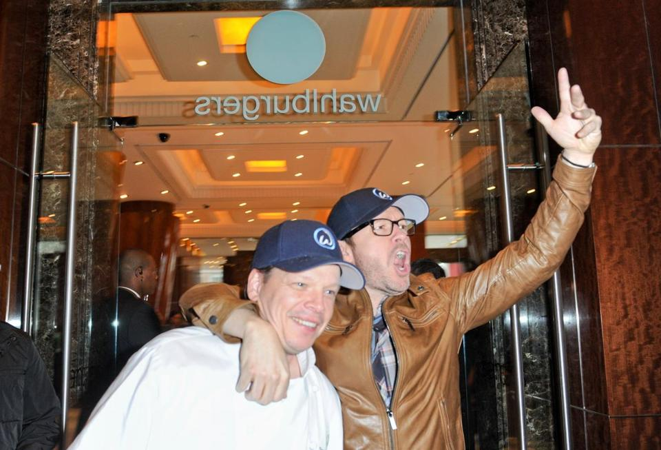 Paul Wahlberg (left) and brother Donnie at the new Wahlburgers in Toronto.