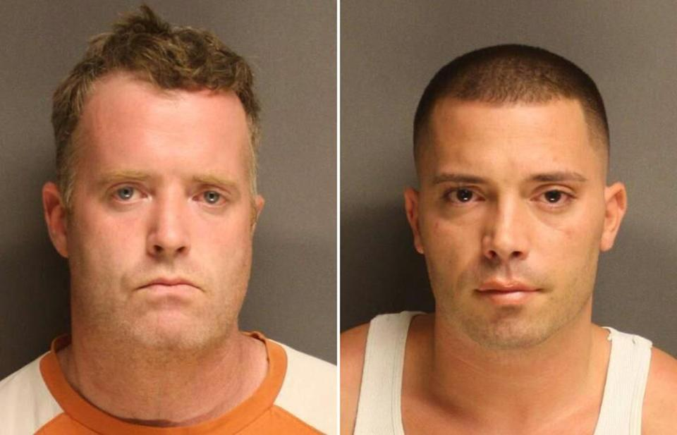 Joseph Doolin of Quincy (left) and Daniel Milisi of South Boston were charged with possession with intent to distribute drugs and with conspiracy to violate drug laws.