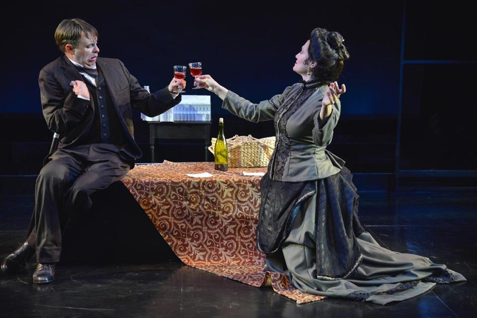"Tim Spears plays John Merrick, and Valerie Leonard is Mrs. Kendal, the actress who befriends him, in ""The Elephant Man."""
