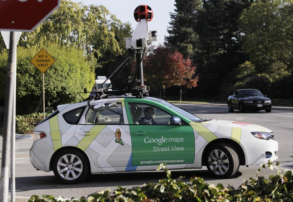 Google cars equipped with cameras captured more than pictures for its mapping service.