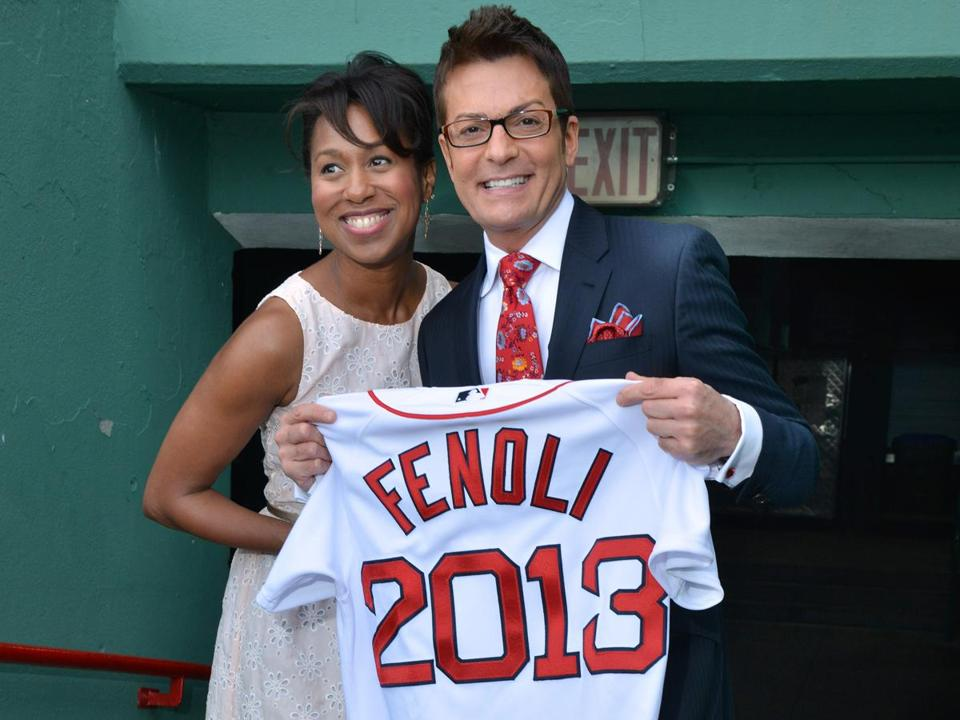 Marcita Thompson of the Red Sox and TLC's Randy Fenoli.