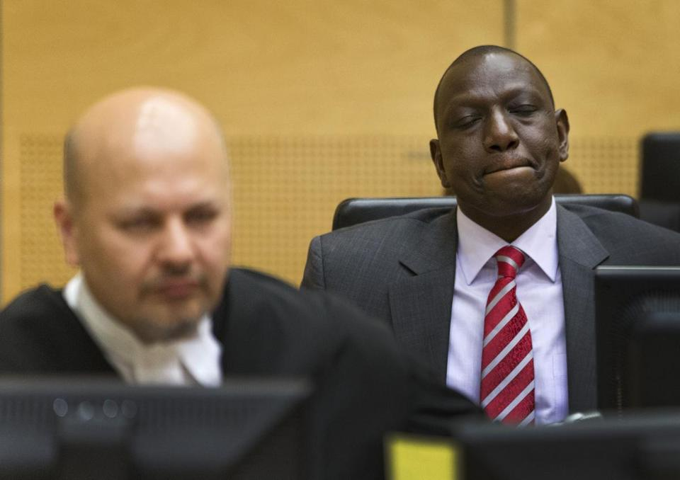 William Ruto, Kenya's deputy president, awaited the start of his trial Tuesday at the International Criminal Court in The Hague.
