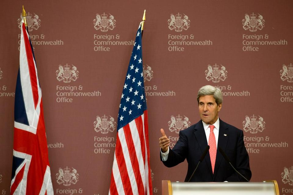 John Kerry's comments in London regarding Syria on Tuesday were seen as a potential diplomatic turning point.