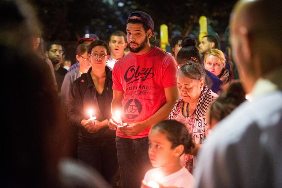 Jonathan Ramos attended a 2013 candlelight vigil for his cousin Jorge Fuentes held by St. Stephen's Episcopal Church.