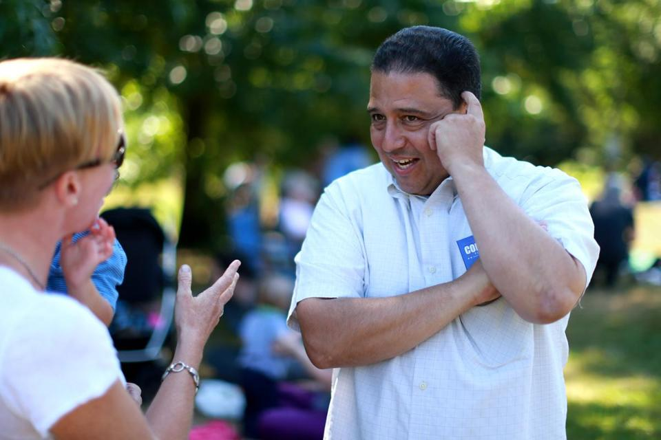 Mayoral candidate Robert Consalvo keeps the focus on people and the things that concern them.