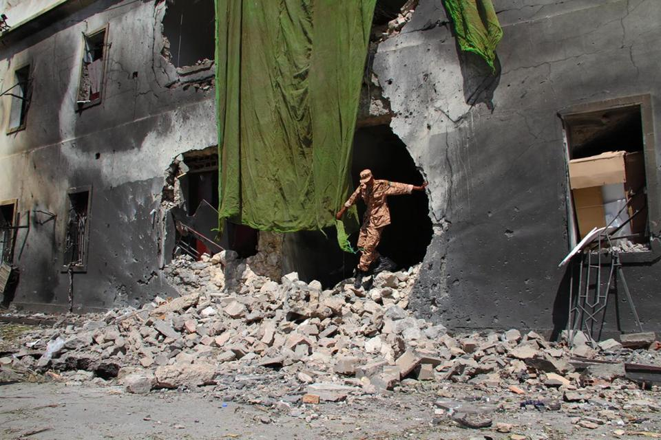 A bomb ripped through the Benghazi branch of Libya's Foreign Ministry, causing massive damage but no deaths.