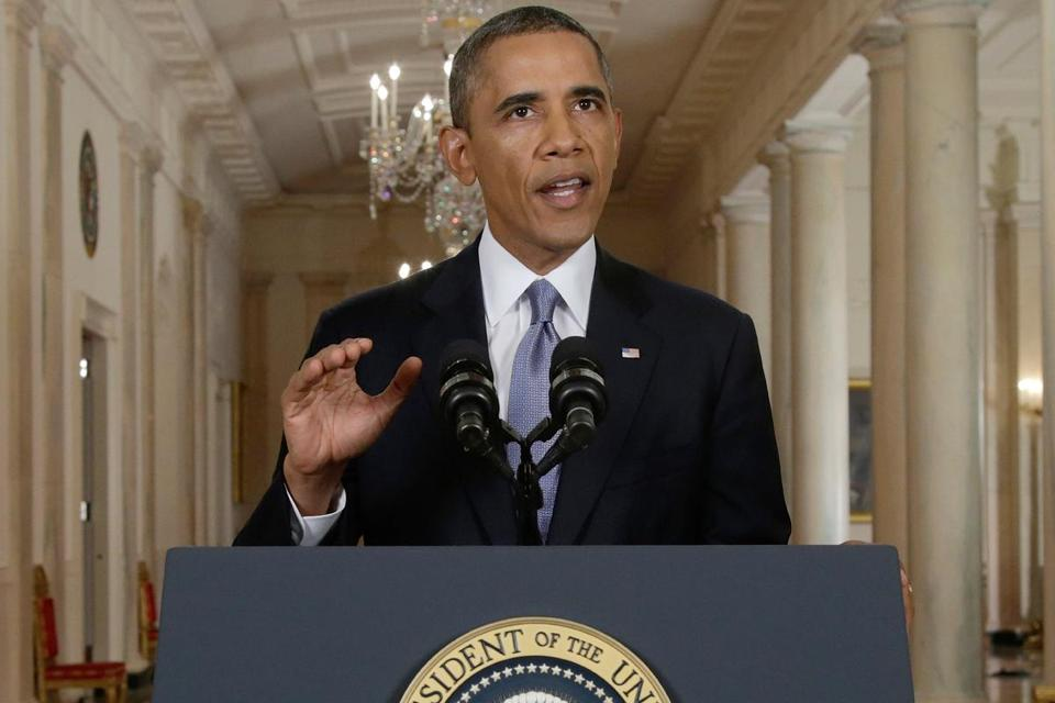 "President Obama, in a nationally televised speech, cited ""encouraging signs"" for resolving the Syria crisis."