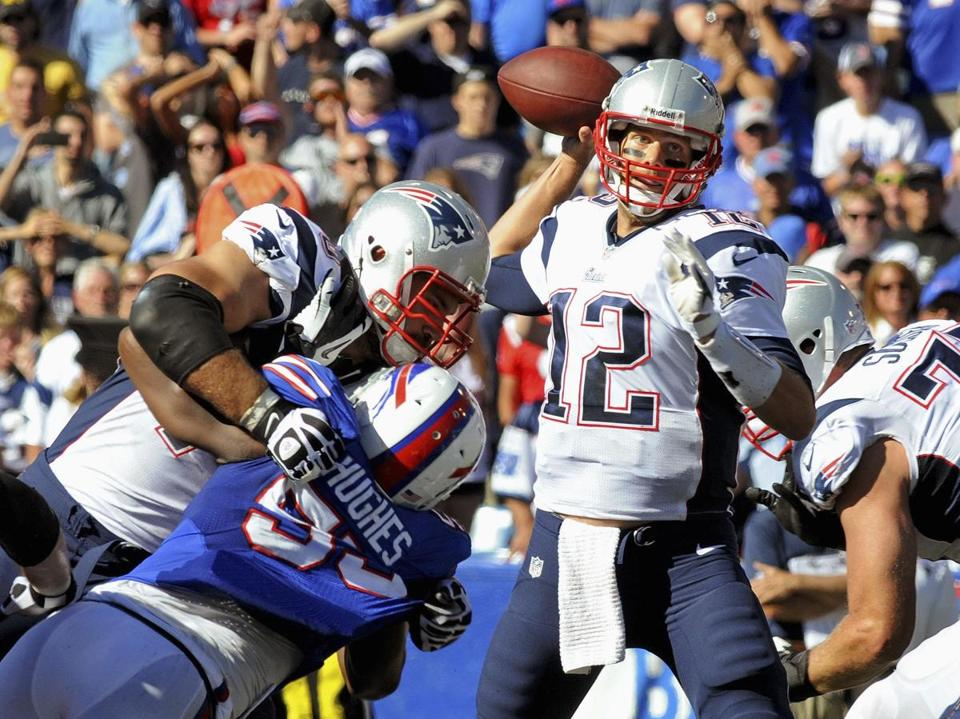 Tom Brady finished with 288 passing yards in the win at Buffalo.