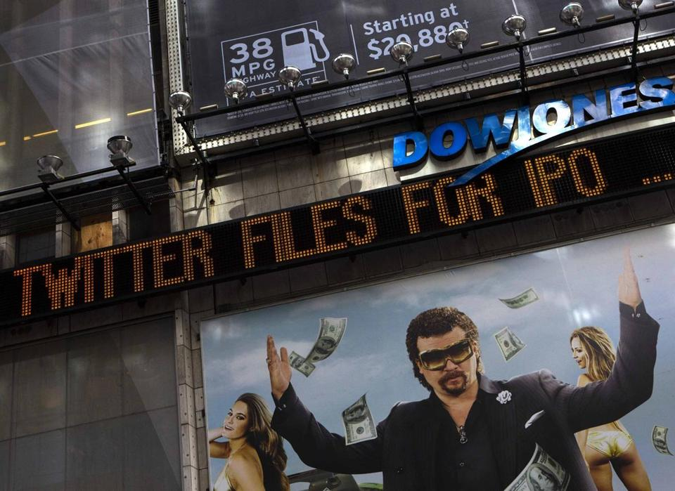 Twitter said on Thursday it would pursue an IPO.